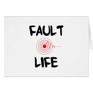 Fault Life Earthquake Fault Zone Card