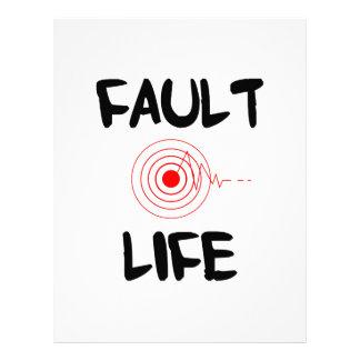 Fault Life Earthquake Fault Zone Letterhead
