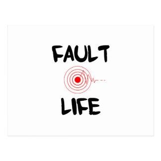 Fault Life Earthquake Fault Zone Postcard
