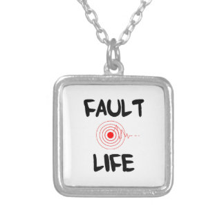 Fault Life Earthquake Fault Zone Square Pendant Necklace