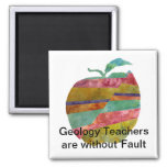 Fault line Apple 2 Inch Square Magnet
