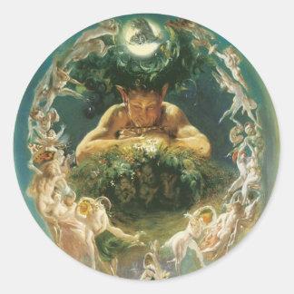 Faun and Fairies round sticker