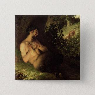 Faun and Nymph, 1868 Pinback Button