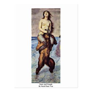 Faun And Nymph By Stuck Franz Von Postcard