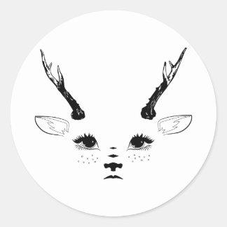 Faun Face Stickers Sticker