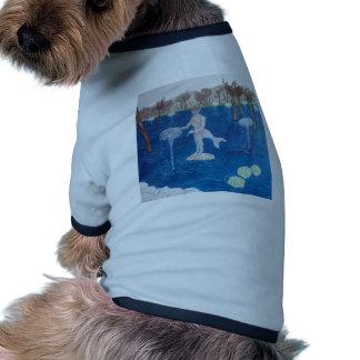 Faun in a Fountain Forest Doggie Tshirt