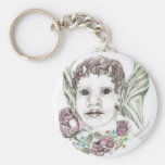 Faun with roses keychain