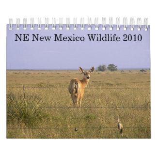 Fauna 2010 del NE New México Calendarios De Pared