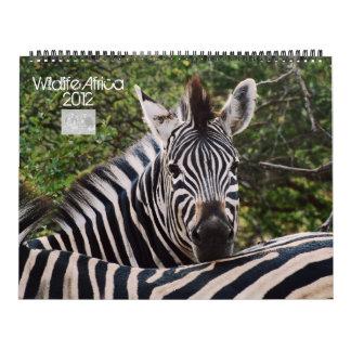 Fauna 2012 de África de los animales salvajes Calendario