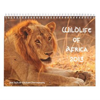 Fauna 2013 del calendario de pared de África