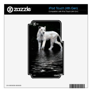 Fauna-amante blanco raro en peligro del león calcomanías para iPod touch 4G