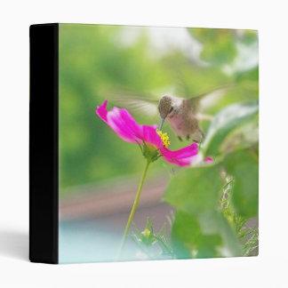 """Fauna animal del pájaro del colibrí floral carpeta 1"""""""