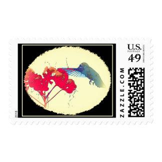Fauna animal del pájaro del colibrí floral envio
