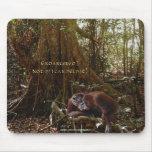 Fauna-ayuda Mousepad de los orangutanes y de la se Alfombrilla De Ratones