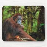 Fauna-ayuda Mousepad del orangután y de la selva t Tapete De Ratones