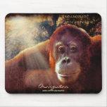 Fauna-ayuda Mousepad del orangután y de la selva t Alfombrillas De Raton