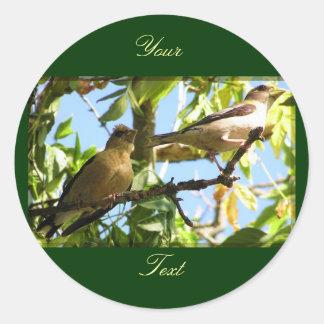 Fauna, customizable seals classic round sticker