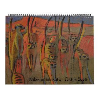 Fauna de Kalahari - calendario