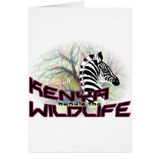 Fauna de Kenia Felicitación