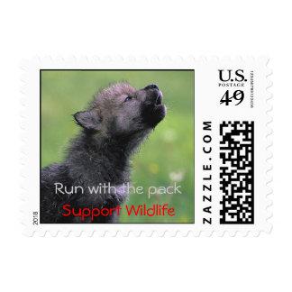 Fauna de la ayuda sello postal
