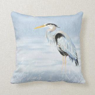 Fauna de la naturaleza del pájaro de la garza de g almohadas