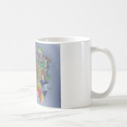 Fauna de la selva tazas de café