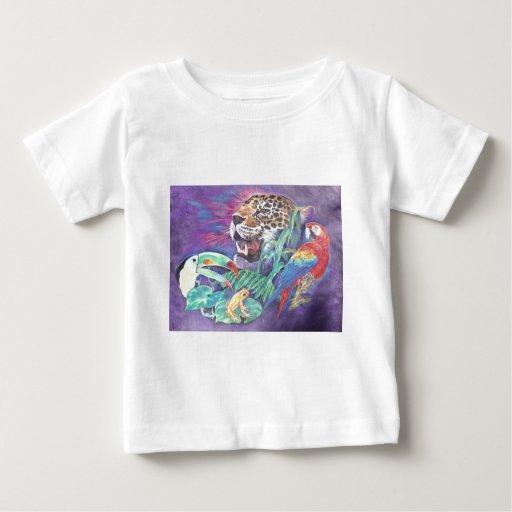 Fauna de la selva tropical en armonía tee shirts
