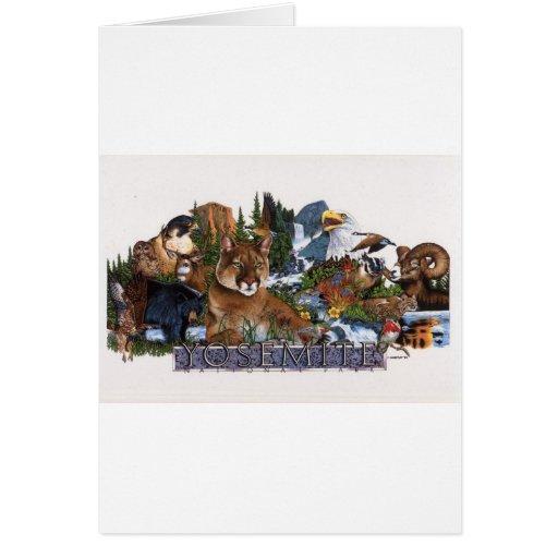 Fauna de Yosemite Felicitacion