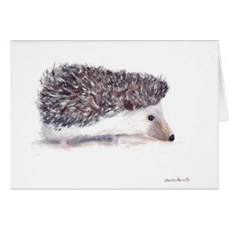 Fauna del animal salvaje del erizo tarjeta de felicitación