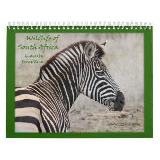 Fauna del calendario de Suráfrica 2015