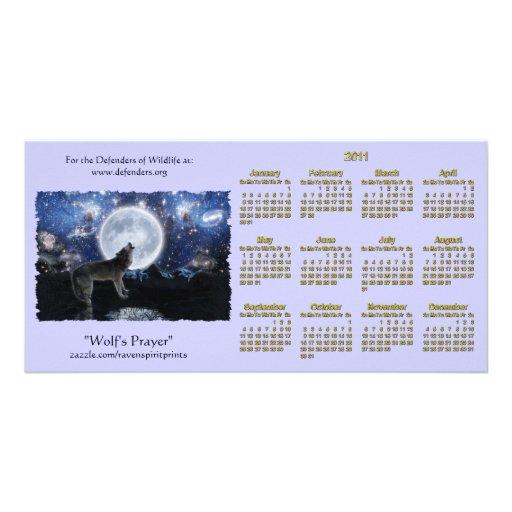 Fauna del lobo del grito 2011 calendarios del bols tarjetas fotográficas