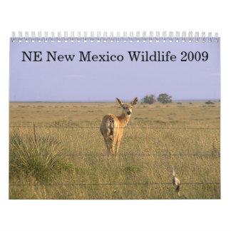 Fauna del noreste 2009 de New México Calendarios