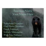 Fauna del oso negro y tarjetas de visita brumosas