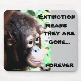 Fauna del primate del orangután tapete de ratón