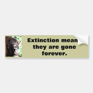 Fauna del rescate de la extinción pegatina de parachoque