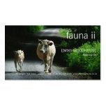 Fauna - dos vacas en la tarjeta de visita de Bumme