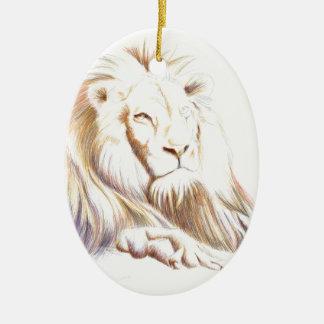 Fauna: Imagen del león Ornamento Para Arbol De Navidad