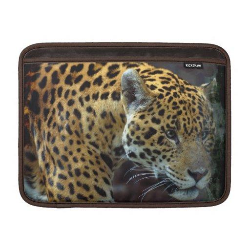 Fauna manchada del gato grande de Jaguar Fundas Para Macbook Air