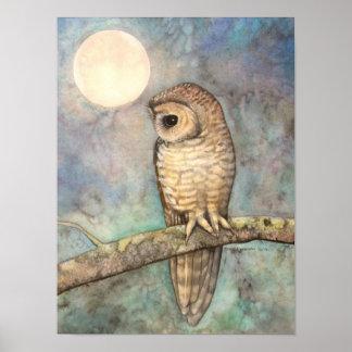 Fauna manchada septentrional de la bella arte del  póster
