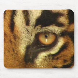 Fauna Mousemat del gato grande del ojo del tigre d Tapetes De Ratones