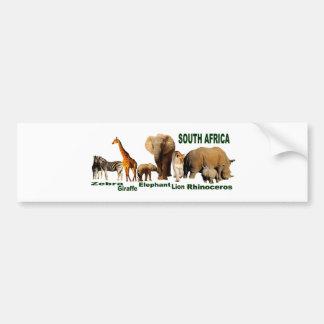 Fauna surafricana etiqueta de parachoque