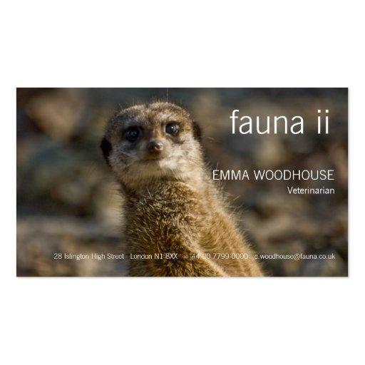 Fauna - tarjeta de visita de Meerkat