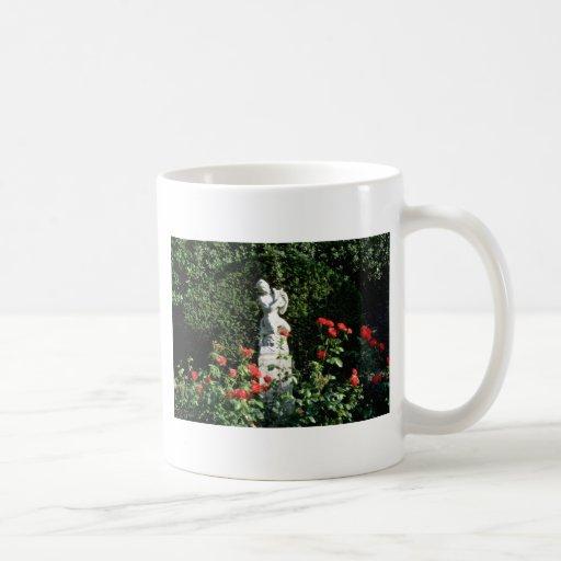 Fauno blanco con el lyre - jardín italiano, Acr de Tazas De Café