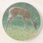 fauno, ciervo del bebé en la punta de flecha del l posavasos manualidades