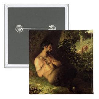 Fauno y ninfa, 1868 pin cuadrada 5 cm