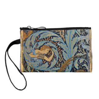 "Fauns with Deer and hounds on vine"" Coin Wallet"