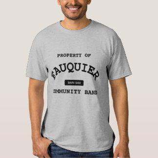 Fauquier Band -- BARI SAX T Shirts