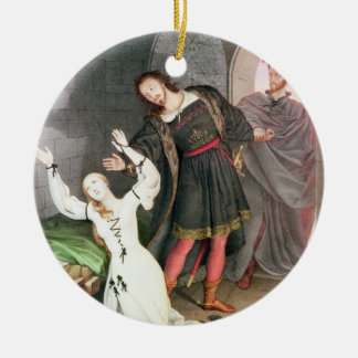 Faust, 1828 (ink and w/c) ceramic ornament