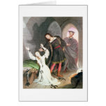 Faust, 1828 (ink and w/c) greeting card