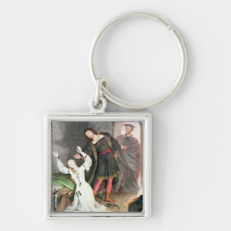 Faust, 1828 (ink and w/c) Silver-Colored square keychain